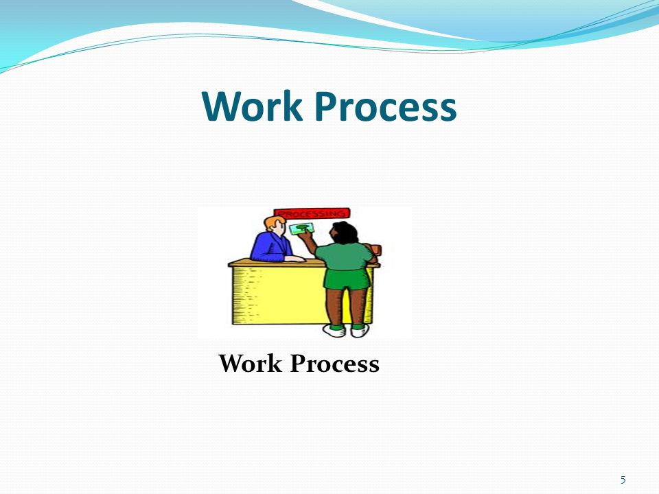 Control Process vs Work Process 6 Work Process Control Processes