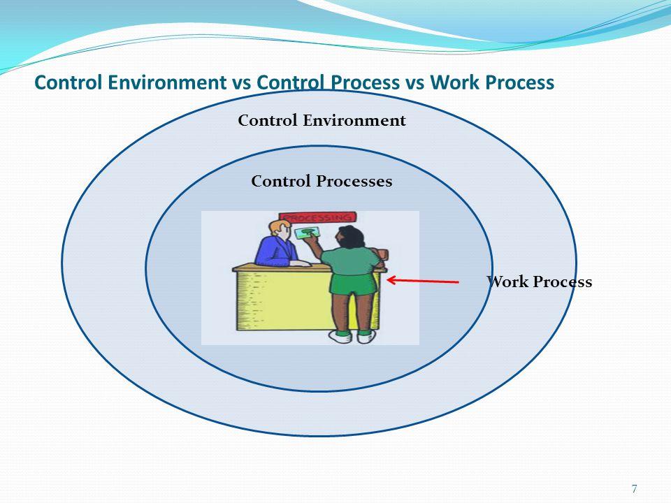Control Environment vs Control Process vs Work Process 7 Work Process Control Processes Control Environment