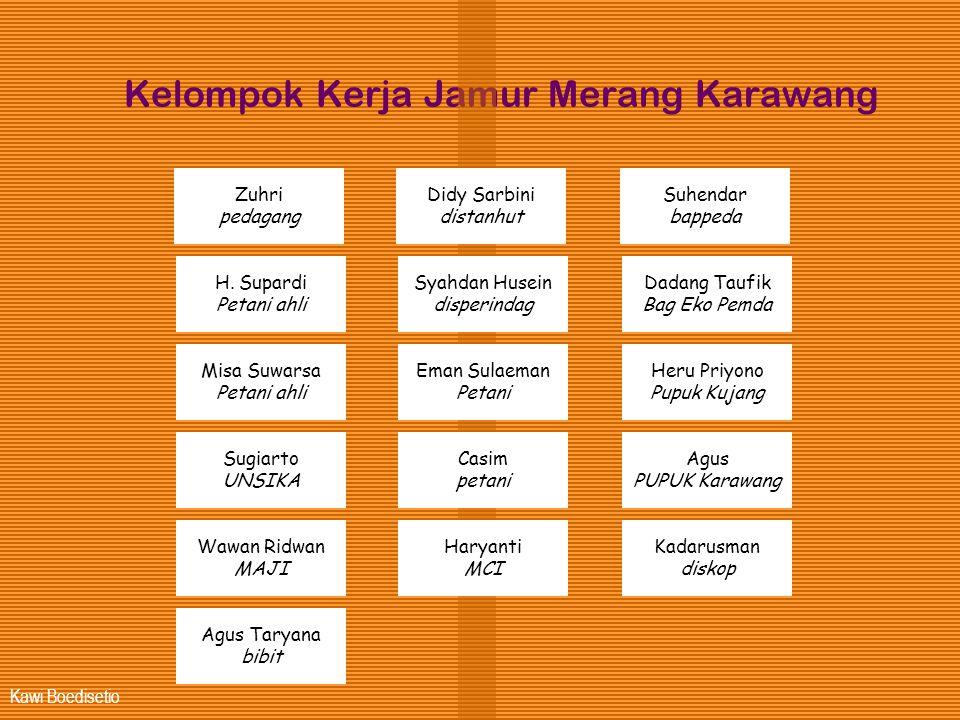 Kawi Boedisetio Kelompok Kerja Jamur Merang Karawang Zuhri pedagang H. Supardi Petani ahli Misa Suwarsa Petani ahli Sugiarto UNSIKA Wawan Ridwan MAJI