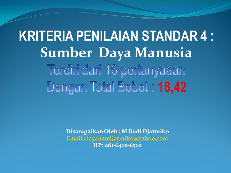 Disampaikan Oleh : M Budi Djatmiko Email : layanandjatmiko@yahoo.com HP: 081-6420-6520