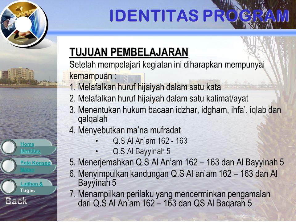 Materi Peta Konsep Tugas Latihan & Identitas Home LATIHAN DAN TUGAS NOLAFADHHUKUM BACAANCARA MEMBACAALASAN 1 2 3 4 5