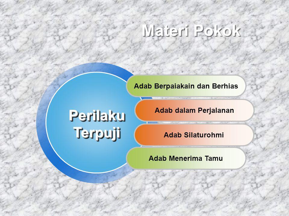 Materi Pokok Adab Berpaiakain dan Berhias Adab dalam Perjalanan Adab Menerima TamuPerilakuTerpujiPerilakuTerpuji Adab Silaturohmi