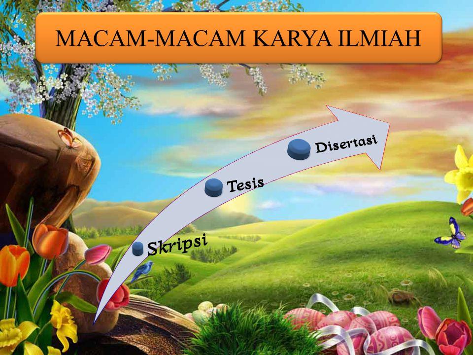 PENGGUNAAN BAHASA Bahasa yang digunakan dalam karya ilmiah adalah bahasa baku yang tercermin dari pilihan kata / istilah, dan kalimat-kalimat yang efe