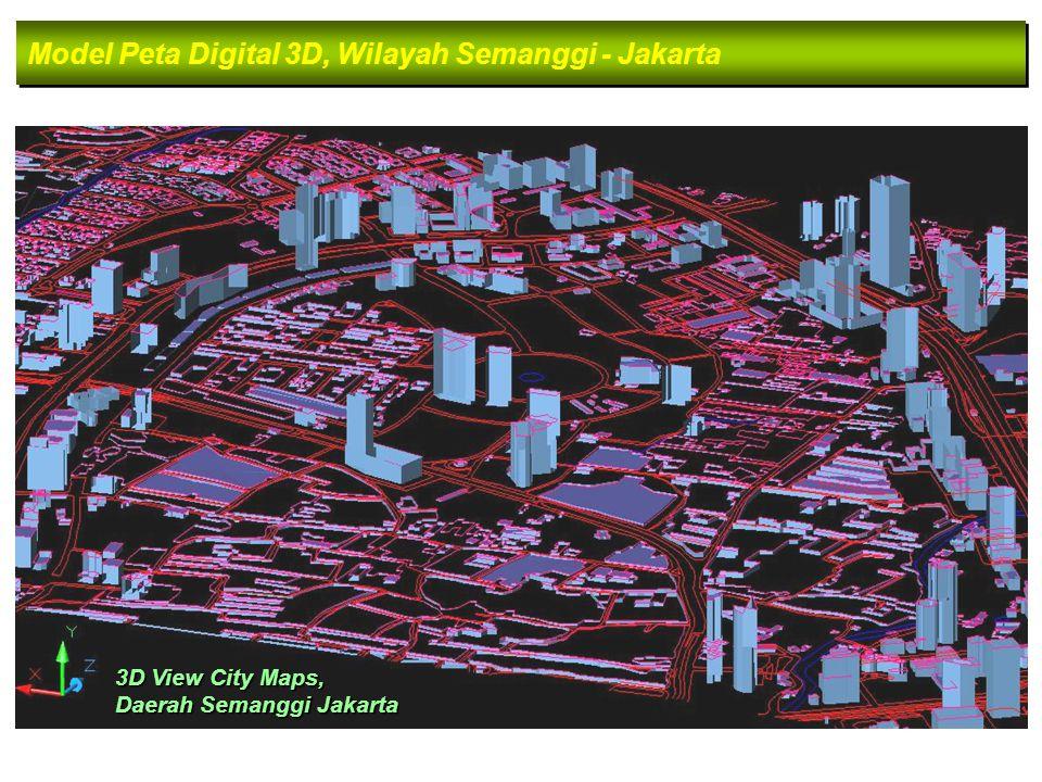 Model Peta Digital 3D, Wilayah Semanggi - Jakarta 3D View City Maps, Daerah Semanggi Jakarta