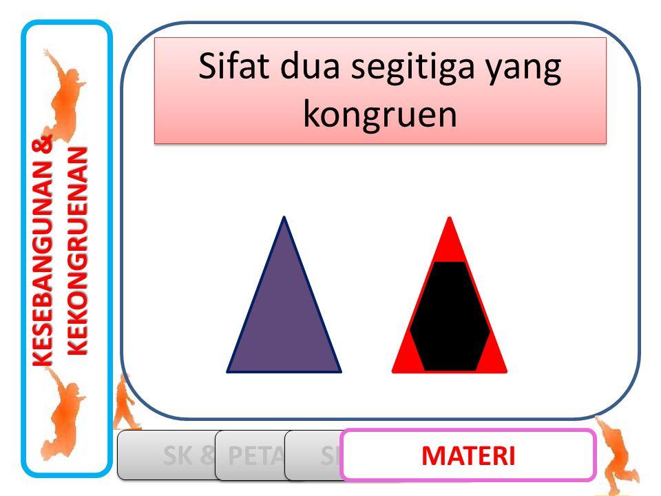 KESEBANGUNAN & KEKONGRUENAN SK & KD PETA KONSEP SIMULASI MATERI Sifat dua segitiga yang kongruen