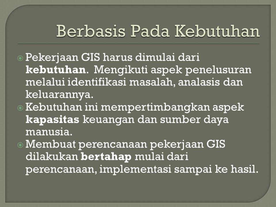  Ada 3 komponen utama dalam GIS yaitu: • Perangkat Keras dan perangkat lunak.