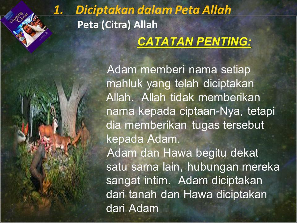 CATATAN PENTING: Adam memberi nama setiap mahluk yang telah diciptakan Allah.