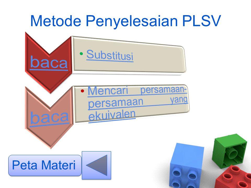 Metode Penyelesaian PLSV Peta Materi