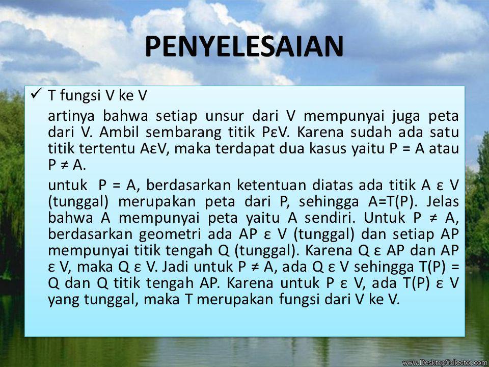 GAMBAR Untuk P =A Untuk P ≠ A Q =T(P) = = V.P A V P.A