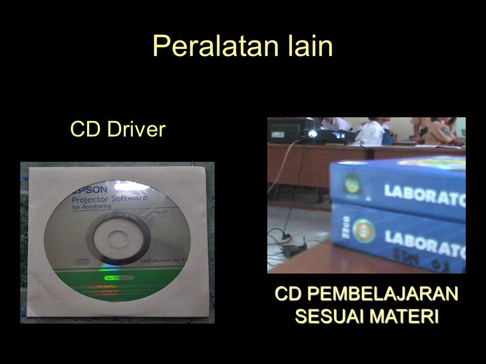 Peralatan lain CD Driver CD PEMBELAJARAN SESUAI MATERI