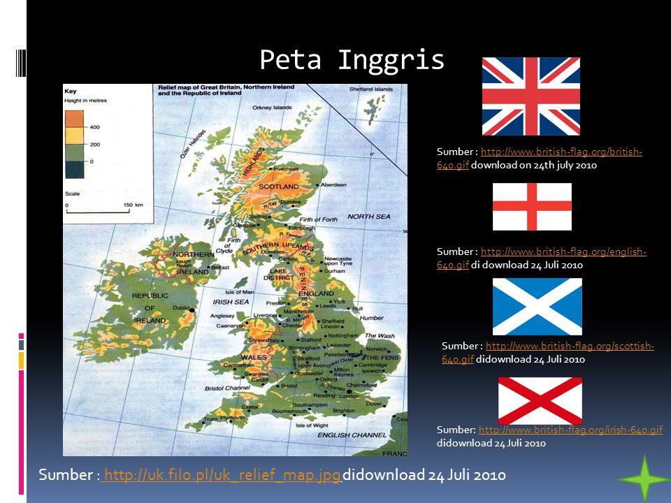 Peta Inggris Sumber : http://uk.filo.pl/uk_relief_map.jpg didownload 24 Juli 2010 http://uk.filo.pl/uk_relief_map.jpg Sumber : http://www.british-flag