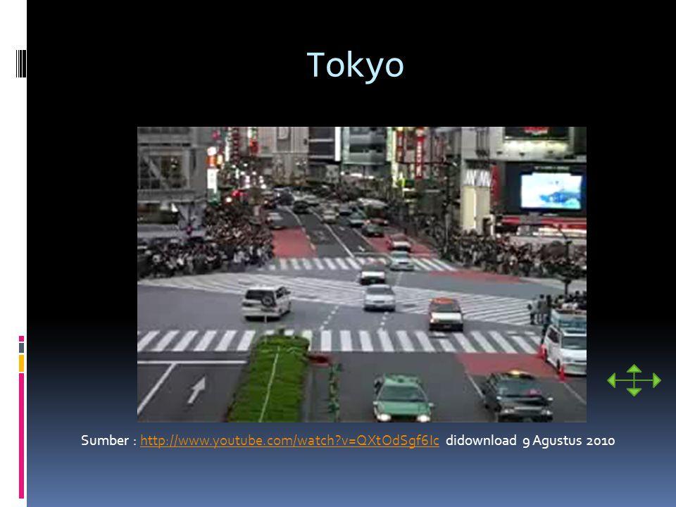 Tokyo Sumber : http://www.youtube.com/watch?v=QXtOdSgf6Ic didownload 9 Agustus 2010http://www.youtube.com/watch?v=QXtOdSgf6Ic