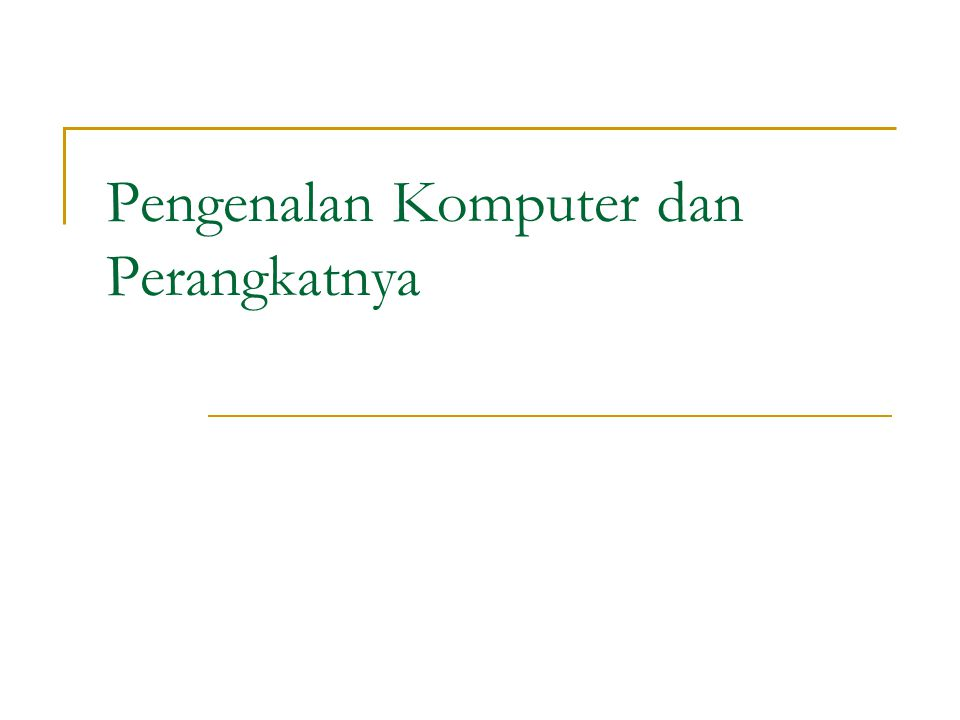 Mobile Computers and Mobile Devices  Apa itu personal digital assistant (PDA).