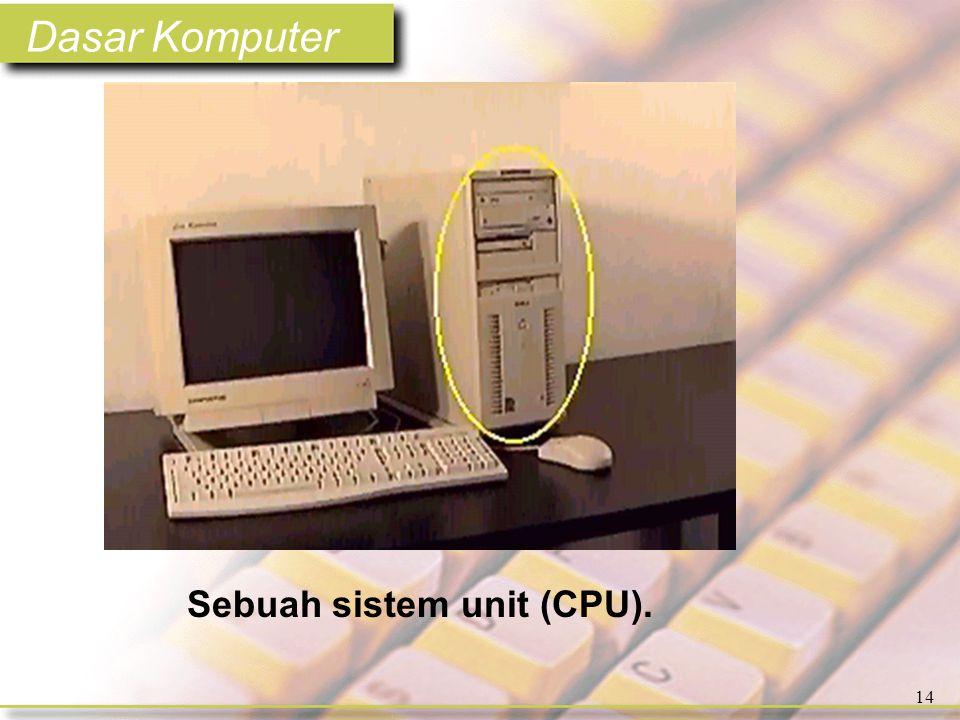 Dasar Komputer 14 Sebuah sistem unit (CPU).