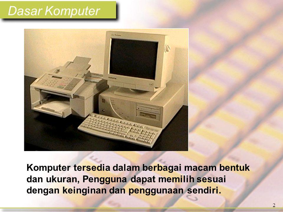 Dasar Komputer 83 Ketika kita menekan kunci pada keyboard data ditransfer ke komputer menggunakan informasi biner digital dalam bentuk standard ASCII (American Standard Code for Information Interchange).