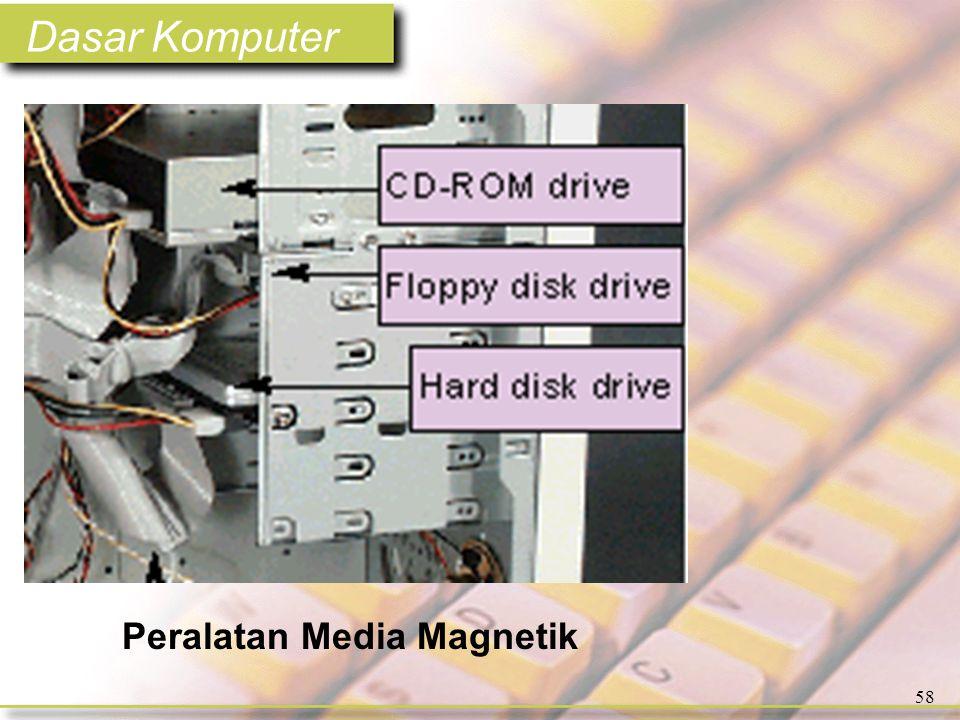 Dasar Komputer 58 Peralatan Media Magnetik