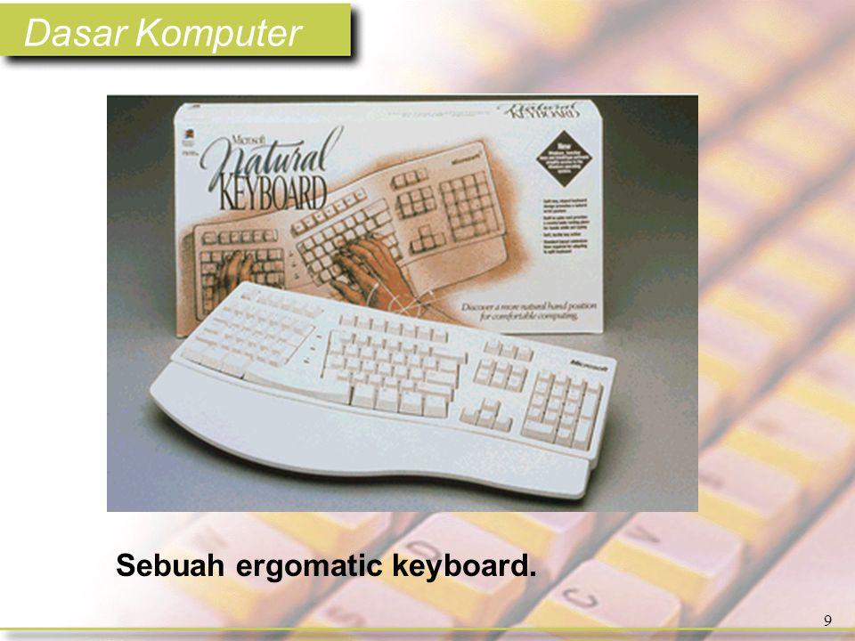 Dasar Komputer 9 Sebuah ergomatic keyboard.