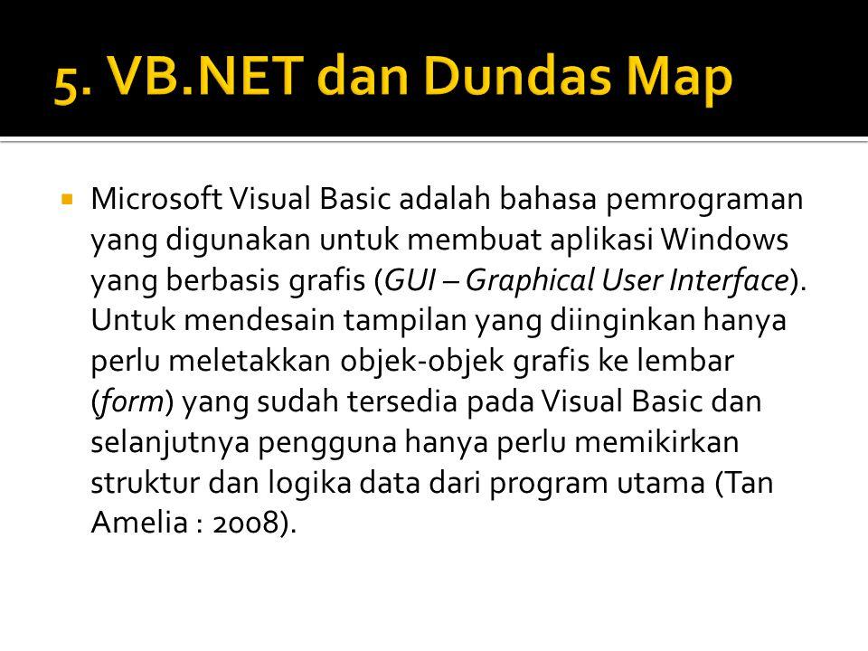  Microsoft Visual Basic adalah bahasa pemrograman yang digunakan untuk membuat aplikasi Windows yang berbasis grafis (GUI – Graphical User Interface)