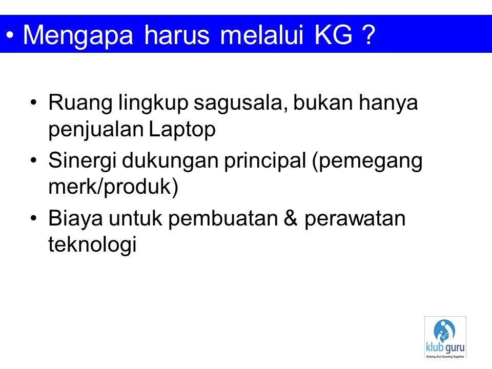 •Laptop murah •Digital Media Learning •Internet Akses •Blog KlubGuru •Wiki Superpedia (eksiklopedia digital) •KlubGuru Commerce Zone (KG Store) •Email system + SMS System • Isi Sagusala