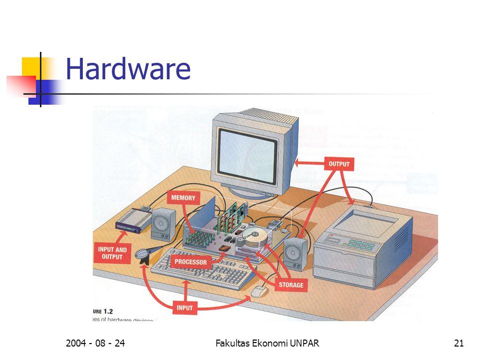 2004 - 08 - 24Fakultas Ekonomi UNPAR21 Hardware