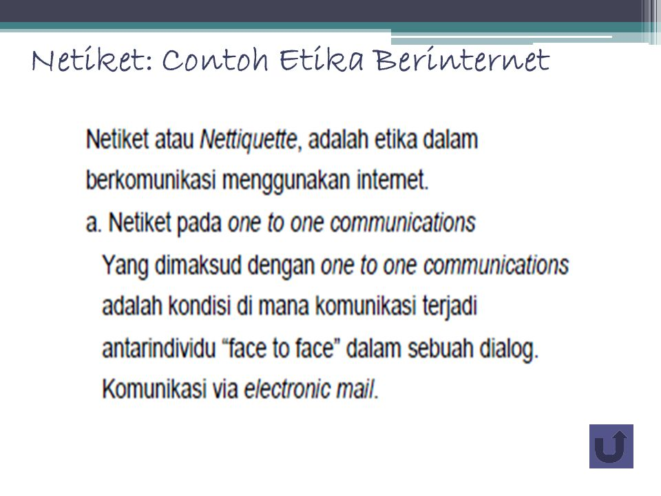 Netiket: Contoh Etika Berinternet