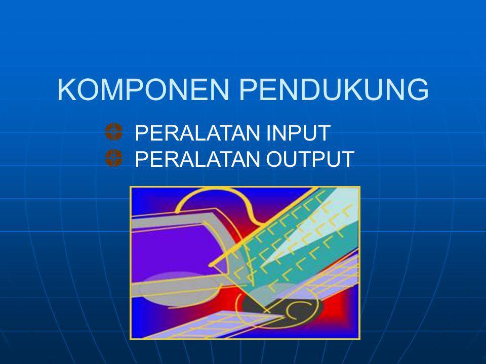  Teknologi Optik MEDIA PENYIMPANAN CDROM Kecepatan CDROM Drive : 1x pembacaan = 150 KB/ detik, kalau CDROM drive berkecepatan maksimal 52x berarti 78