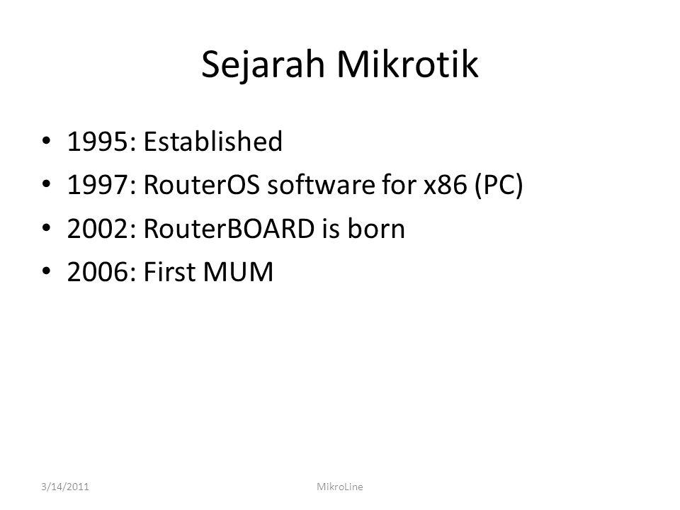 IMPORT FILE 3/14/2011MikroLine • Seteah proses import file rsc, konfigurasi akan langsung aktif dan tidak diperlukan proses reboot