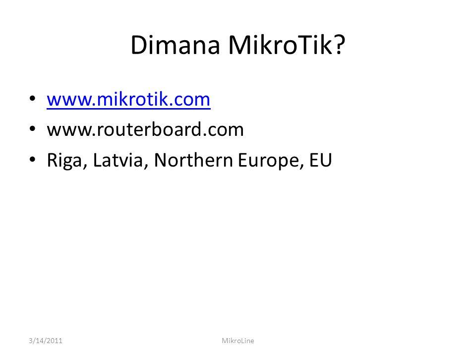 IP ADDRESSING • Setiap IP Address yang terpasang di interface router, secara otomatis akan menambahkan DAC routing di route list 3/14/2011MikroLine