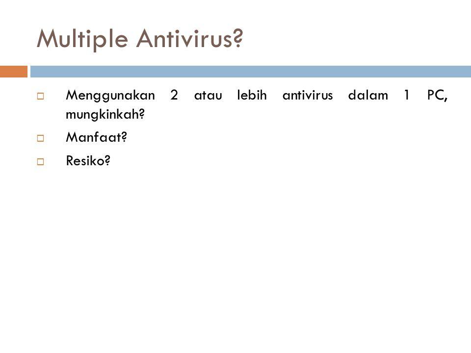 Multiple Antivirus. Menggunakan 2 atau lebih antivirus dalam 1 PC, mungkinkah.