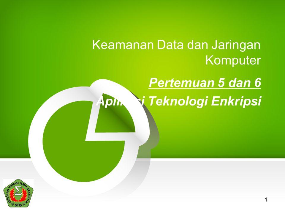 2.Enkripsi Data (yang disimpan) •Mengapa file-file data harus dienkrip.