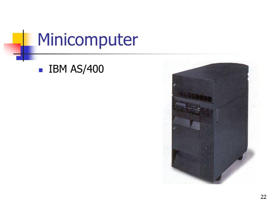 22 Minicomputer  IBM AS/400