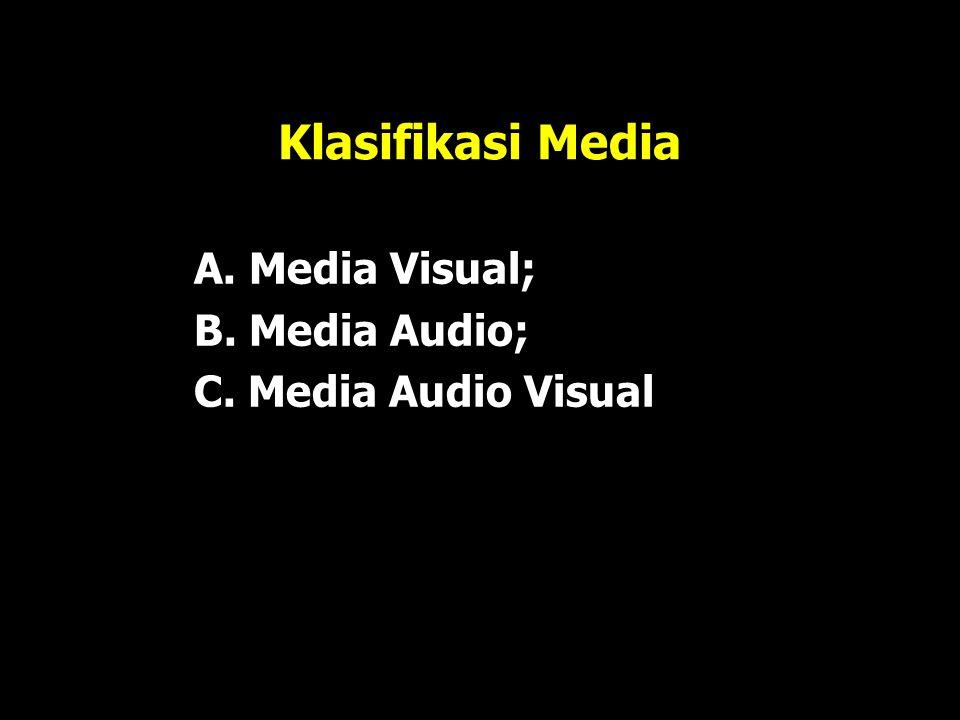  Menurut Rudy Bretz : Media dibagi tiga unsur pokok: suara, visual, dan gerak visual (gambar, garis, simbol).  Duncan: semakin rumit jenis perangkat