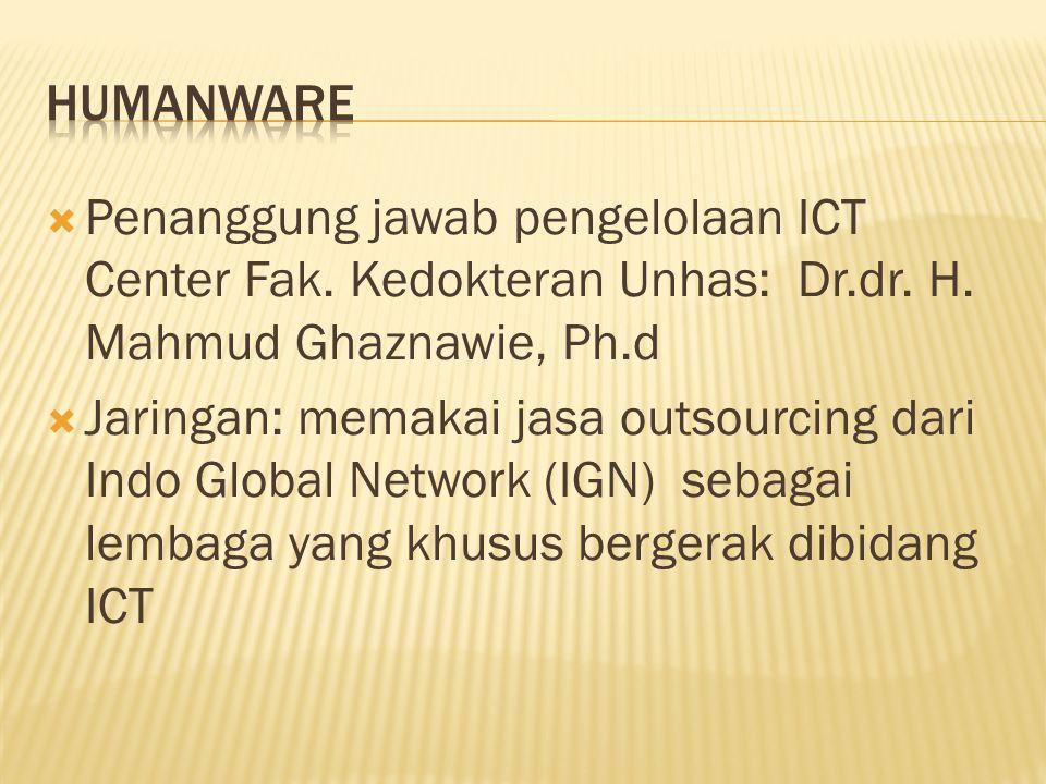  Penanggung jawab pengelolaan ICT Center Fak. Kedokteran Unhas: Dr.dr.
