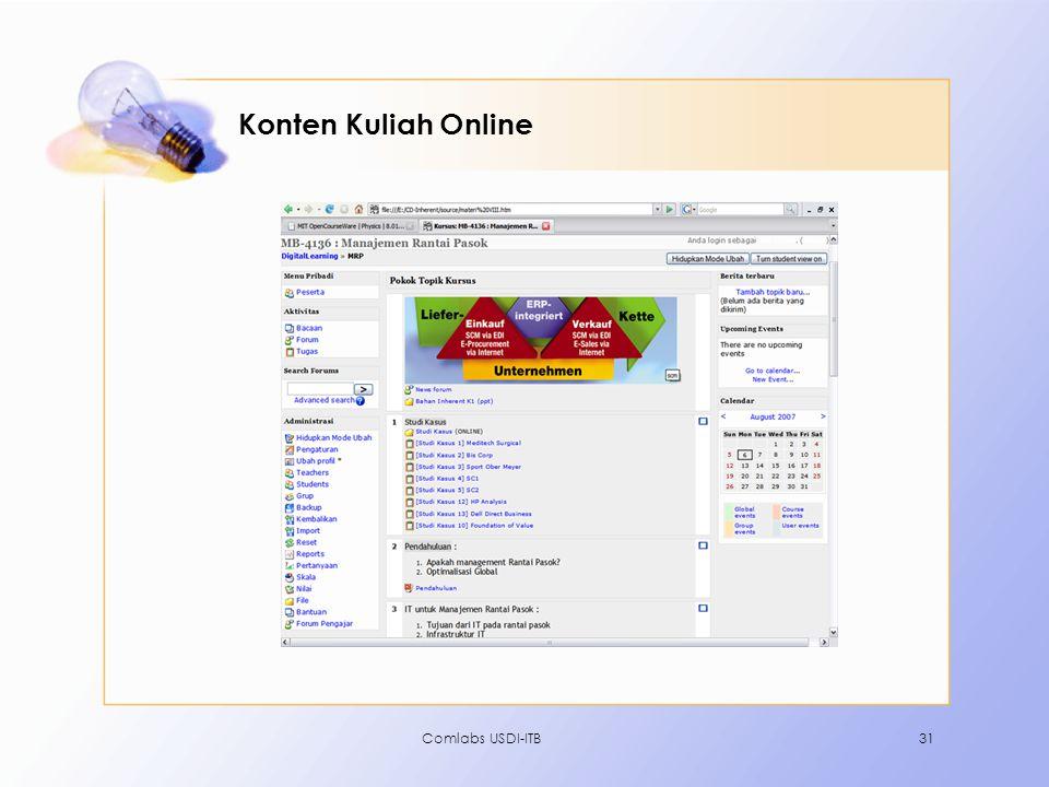 Comlabs USDI-ITB31 Konten Kuliah Online