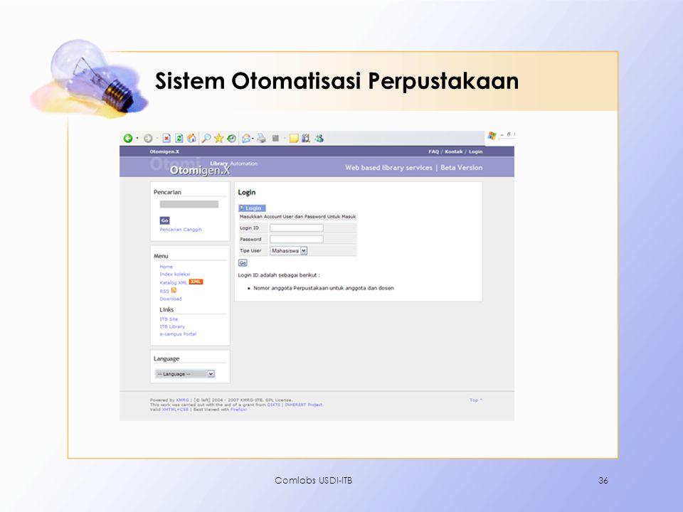 Comlabs USDI-ITB36 Sistem Otomatisasi Perpustakaan