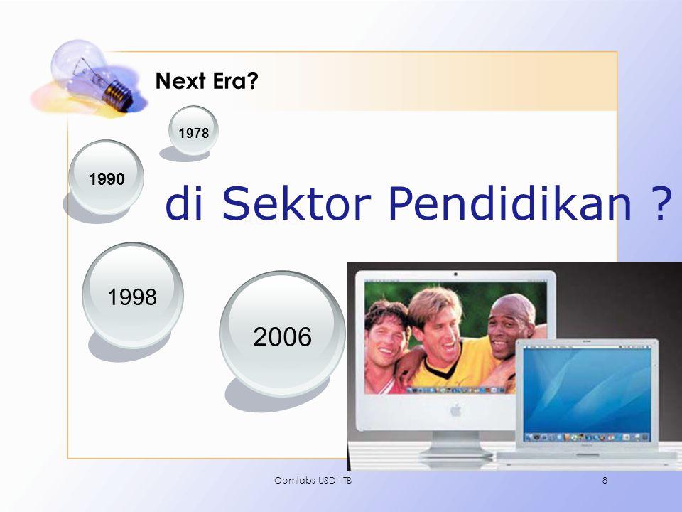 Comlabs USDI-ITB8 Next Era? 2006 1998 1990 1978 Internet di Sektor Pendidikan ?