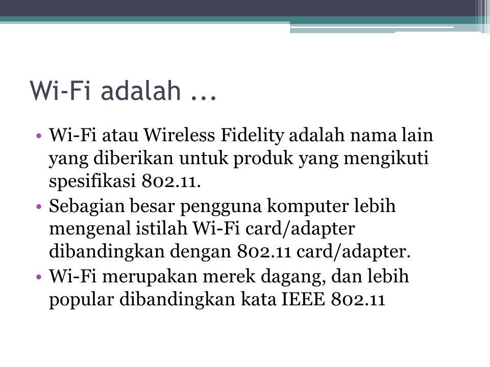 Wi-Fi adalah...
