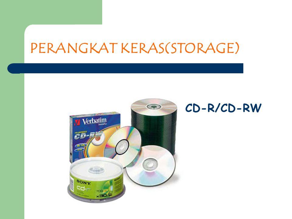 PERANGKAT KERAS(STORAGE) CD-R/CD-RW