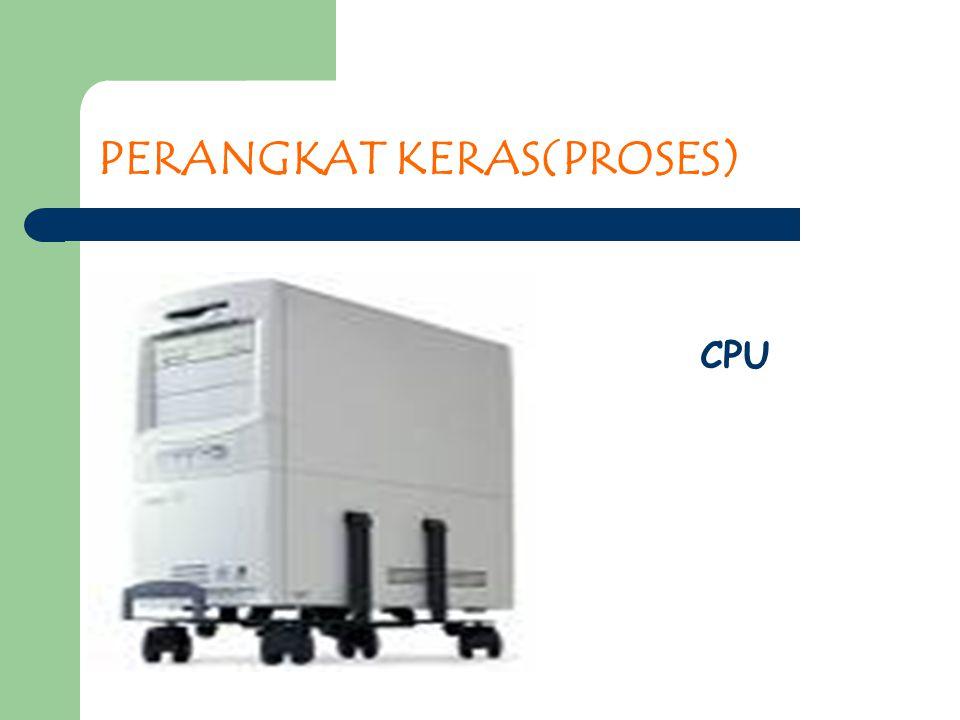 PERANGKAT KERAS(PROSES) CPU