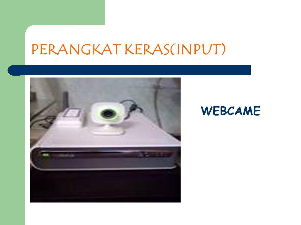 PERANGKAT KERAS(INPUT) WEBCAME