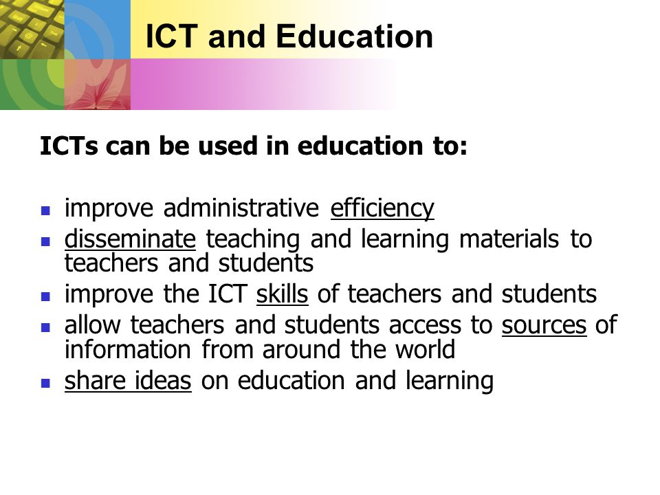 Monitoring & measuring the impact of ICT in education using performance indicators 5.