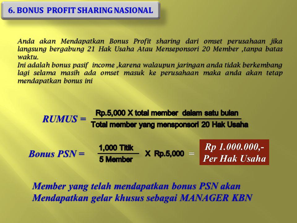 5. BONUS PASANGAN Rp 100.000,-
