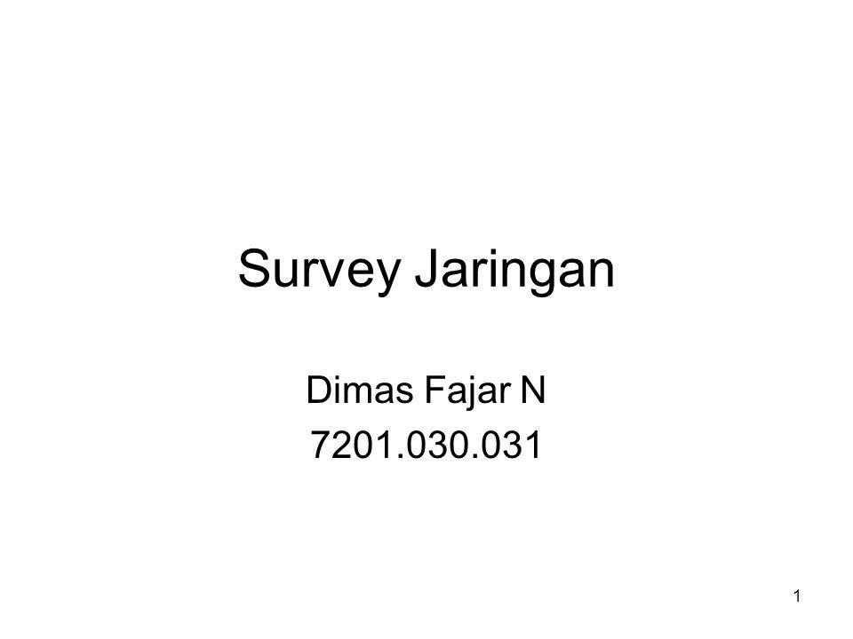 1 Survey Jaringan Dimas Fajar N 7201.030.031