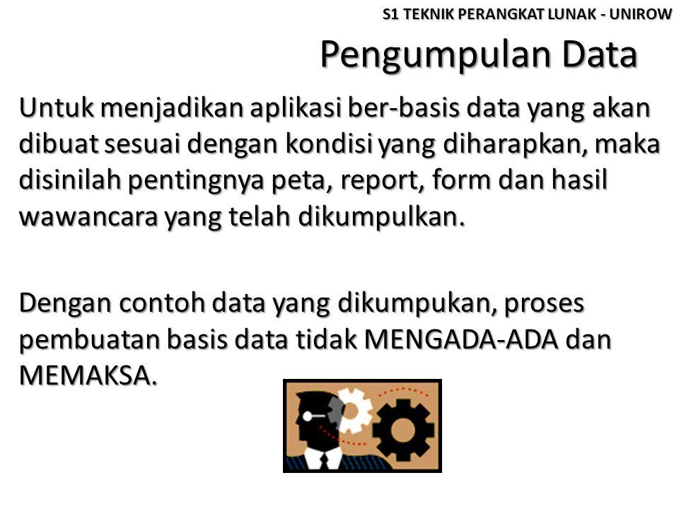 Pengumpulan Data Untuk menjadikan aplikasi ber-basis data yang akan dibuat sesuai dengan kondisi yang diharapkan, maka disinilah pentingnya peta, repo