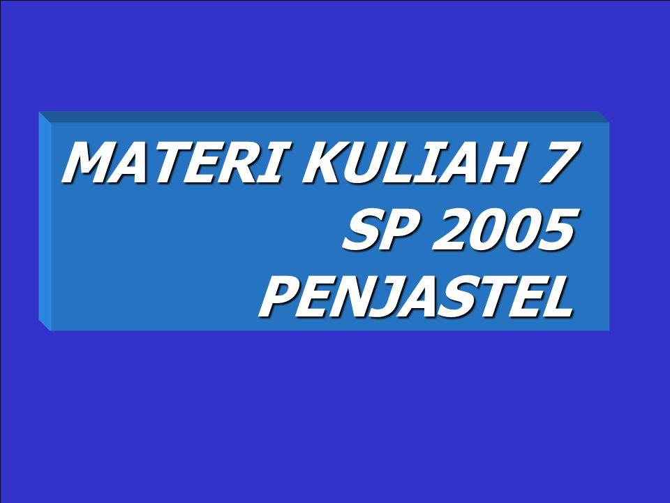 MATERI KULIAH 7 SP 2005 PENJASTEL