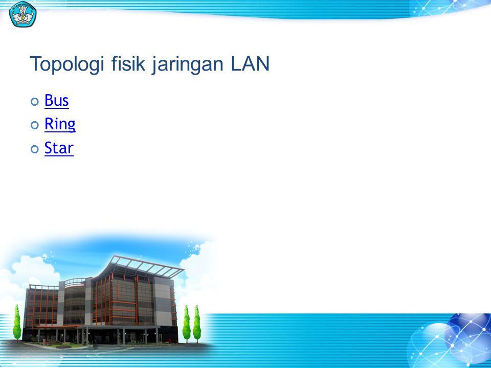 Topologi fisik jaringan LAN Bus Ring Star