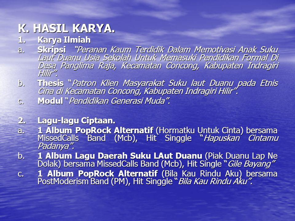 K.HASIL KARYA.