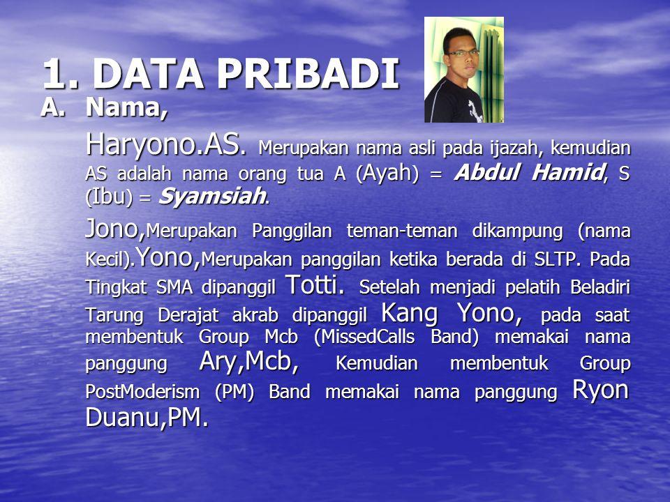 1.DATA PRIBADI A.Nama, Haryono.AS.
