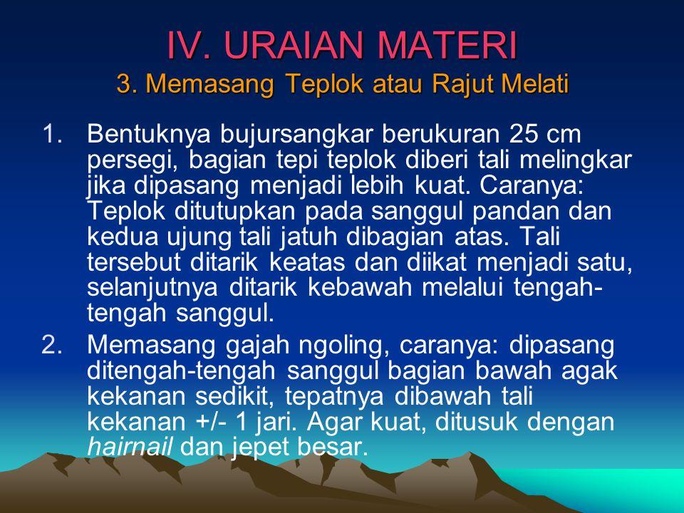 IV.URAIAN MATERI 3.
