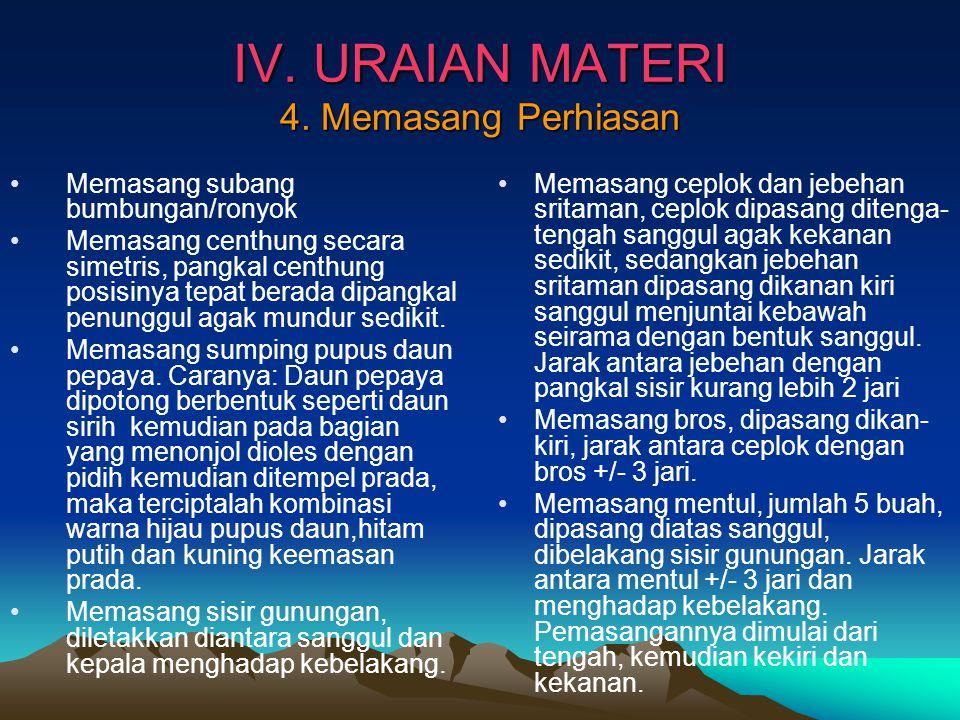 IV.URAIAN MATERI 4.